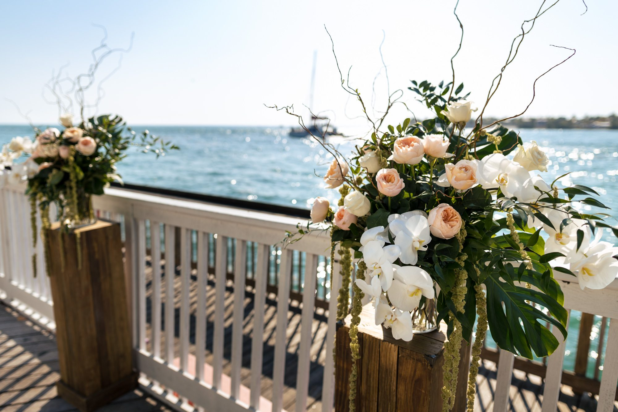 ceremony flowers by love in bloom florist