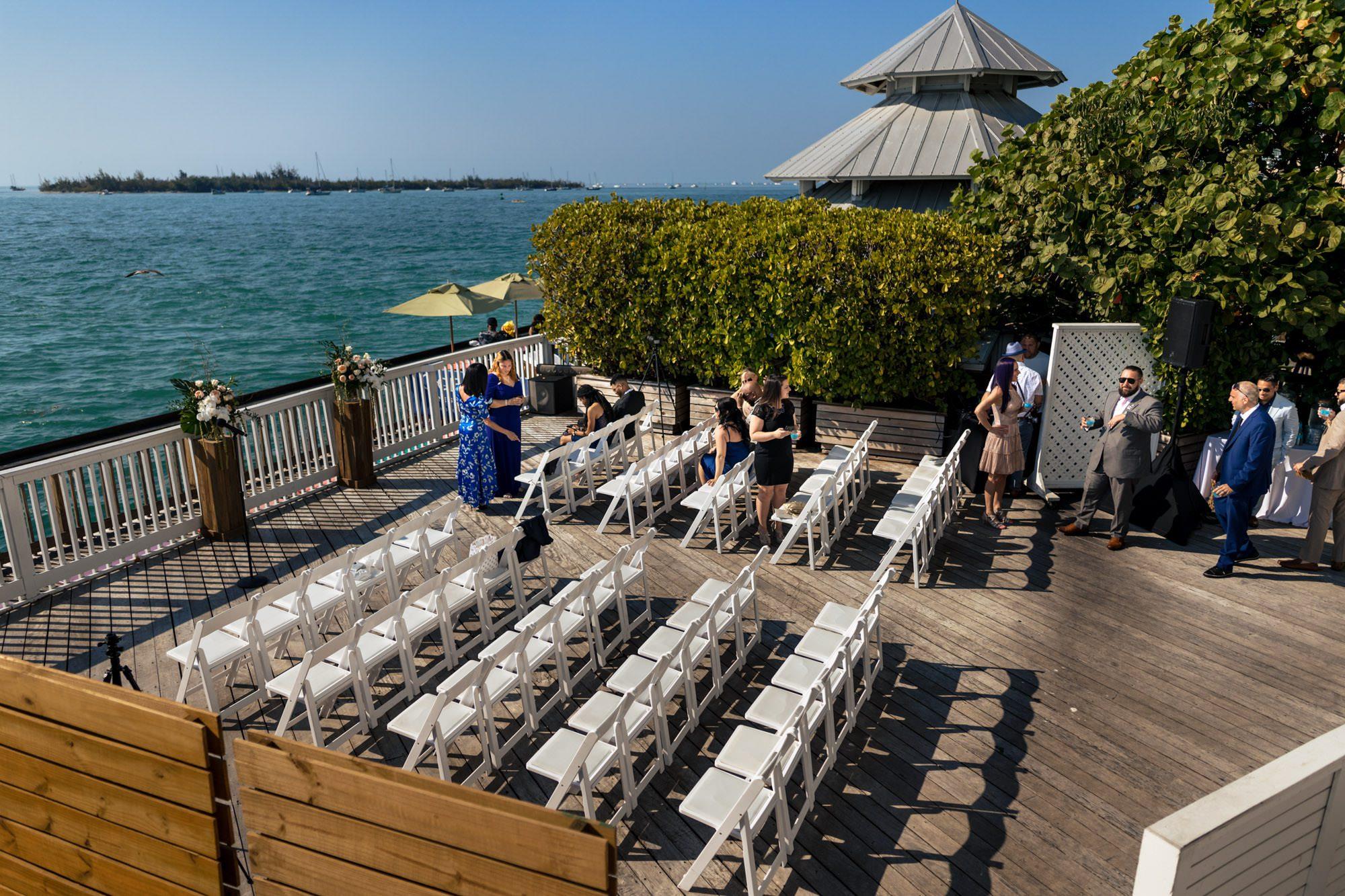 bridal portraits at ocean key resort wedding