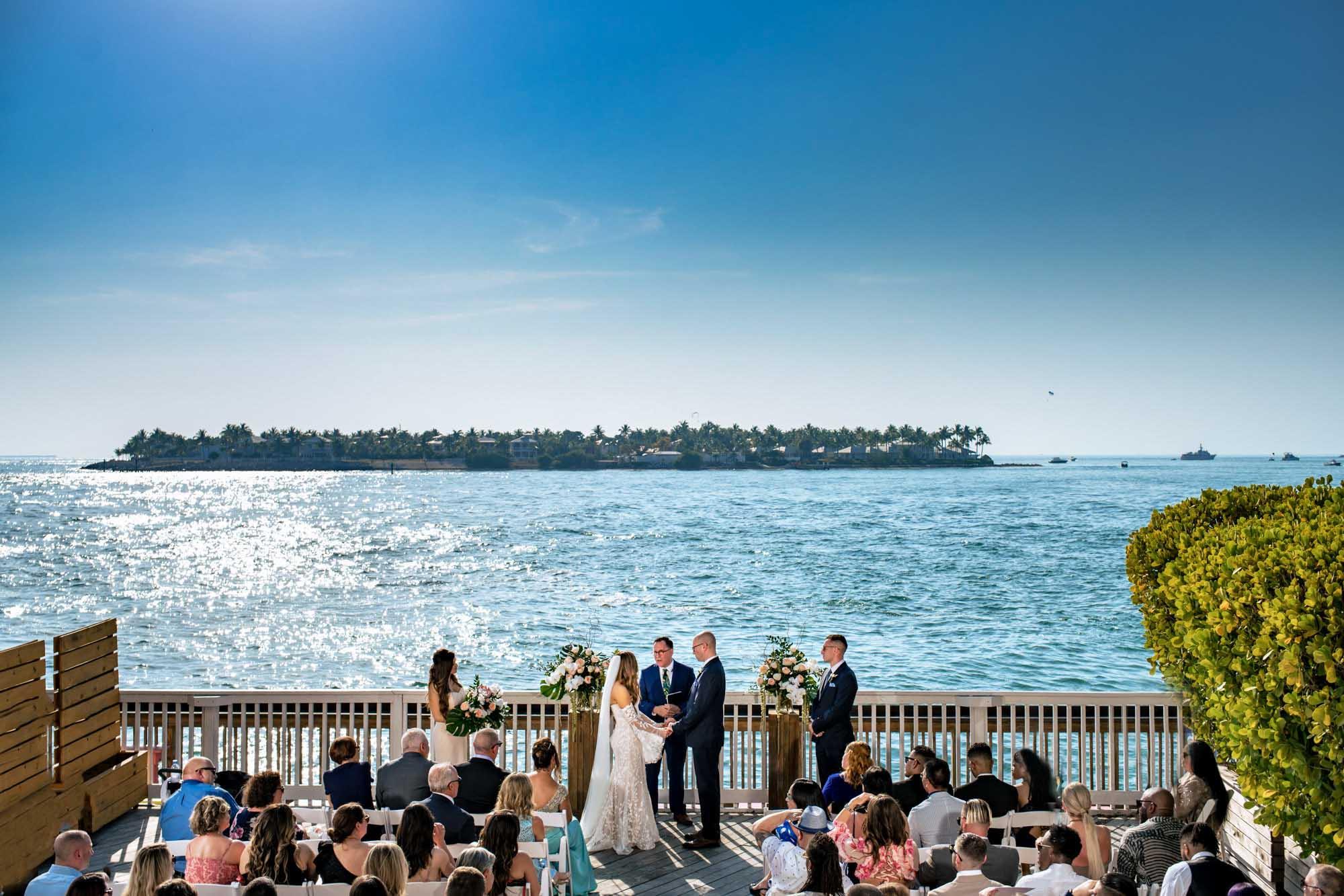 ocean key resort wedding ceremony in key west