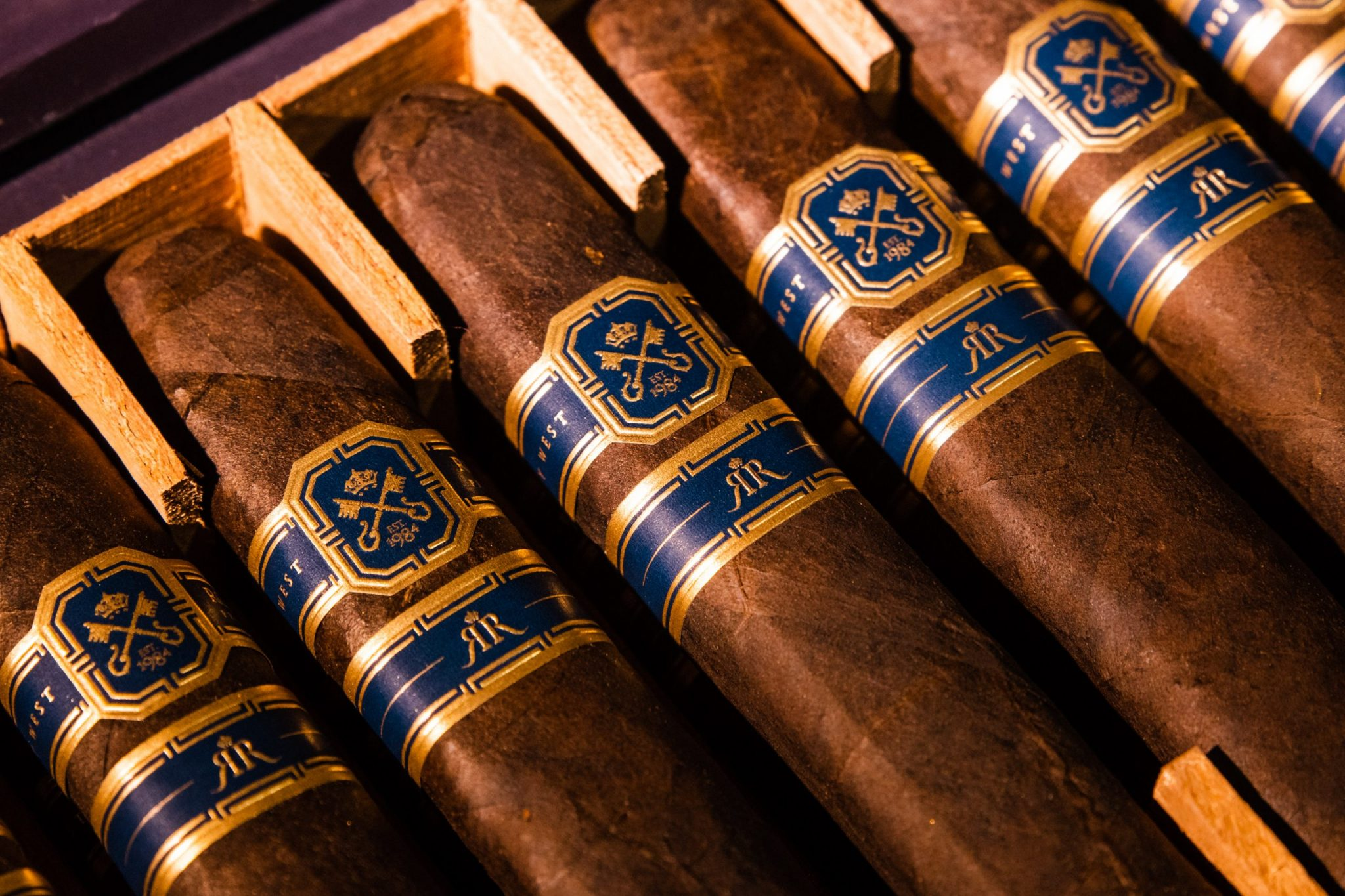closeup shot of cigars for commercial photoshoot