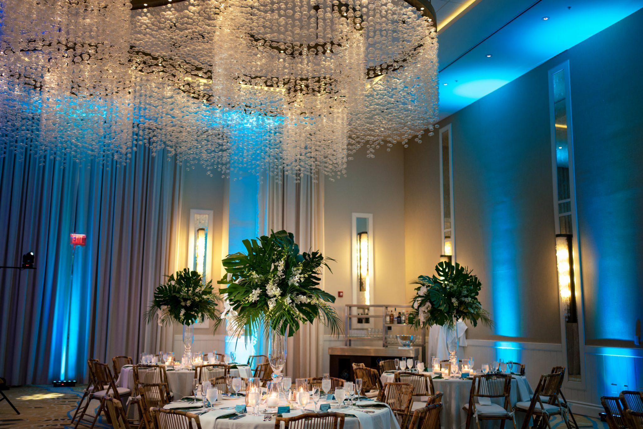 reception decor playa largo resort wedding