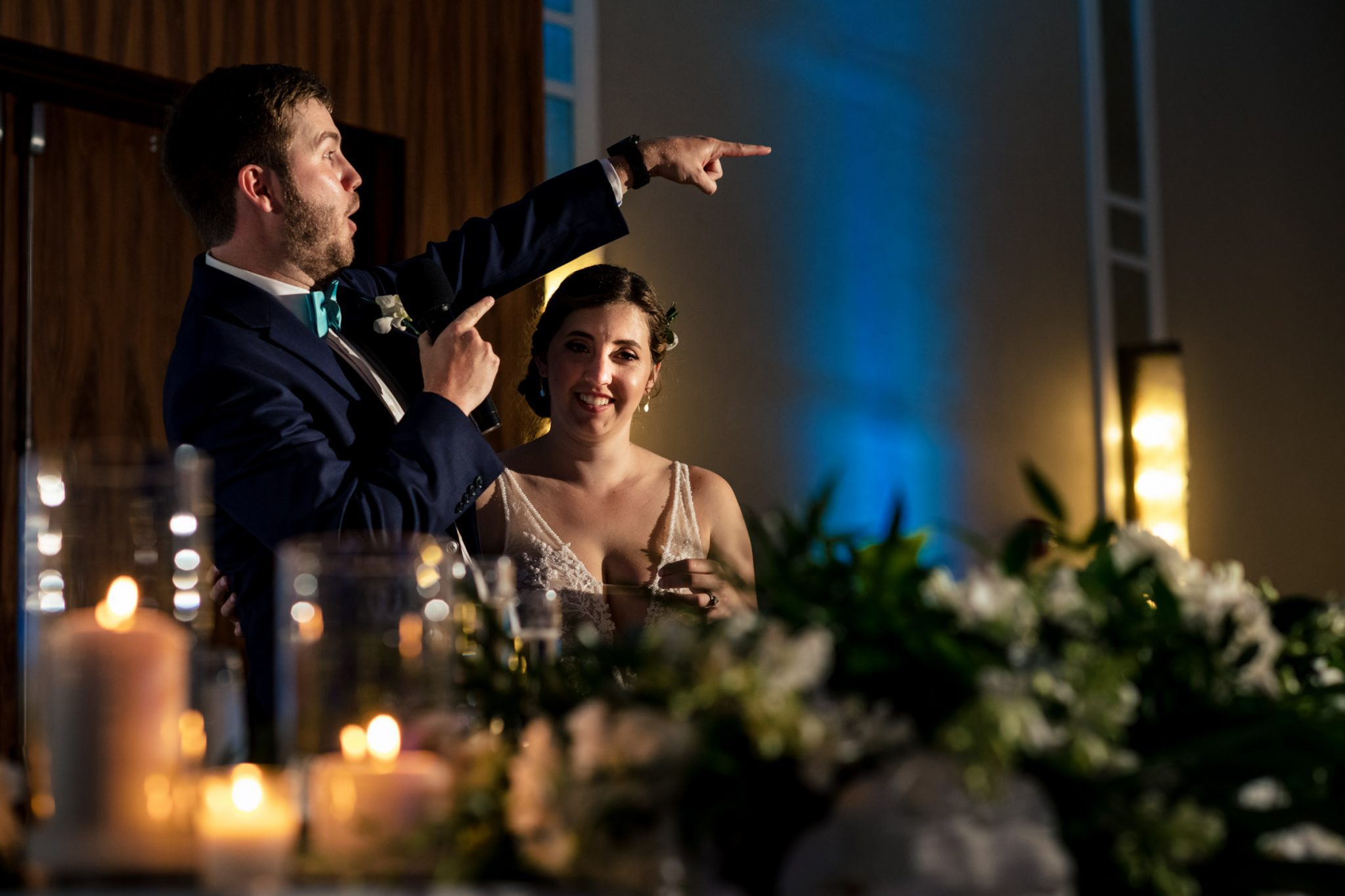 reception speeches at playa largo resort wedding
