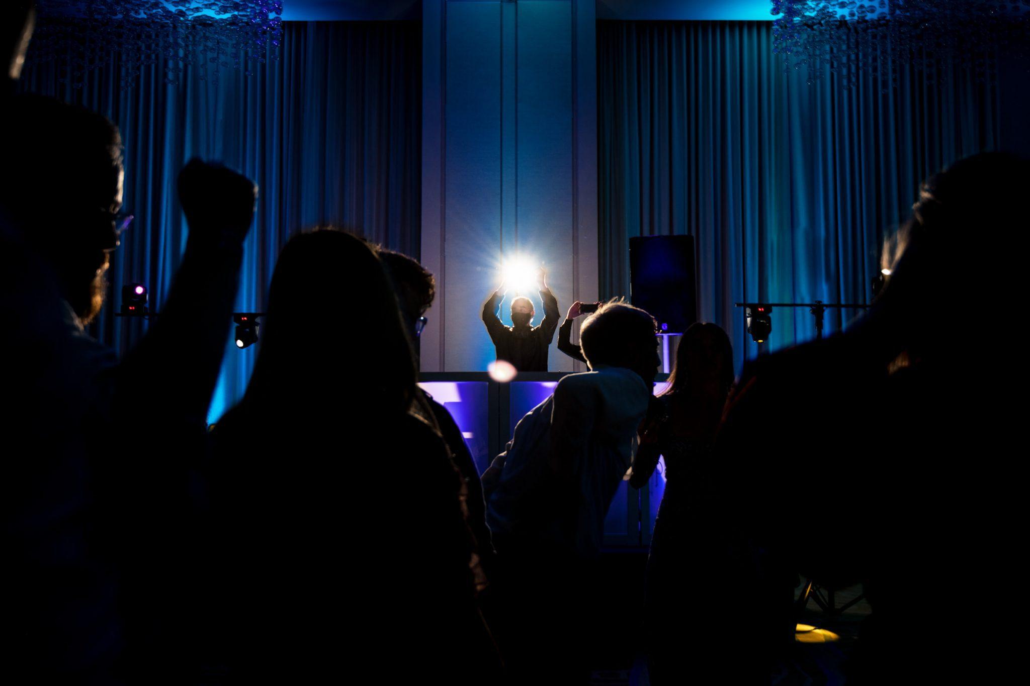 wedding reception and guest dancing at playa largo resort