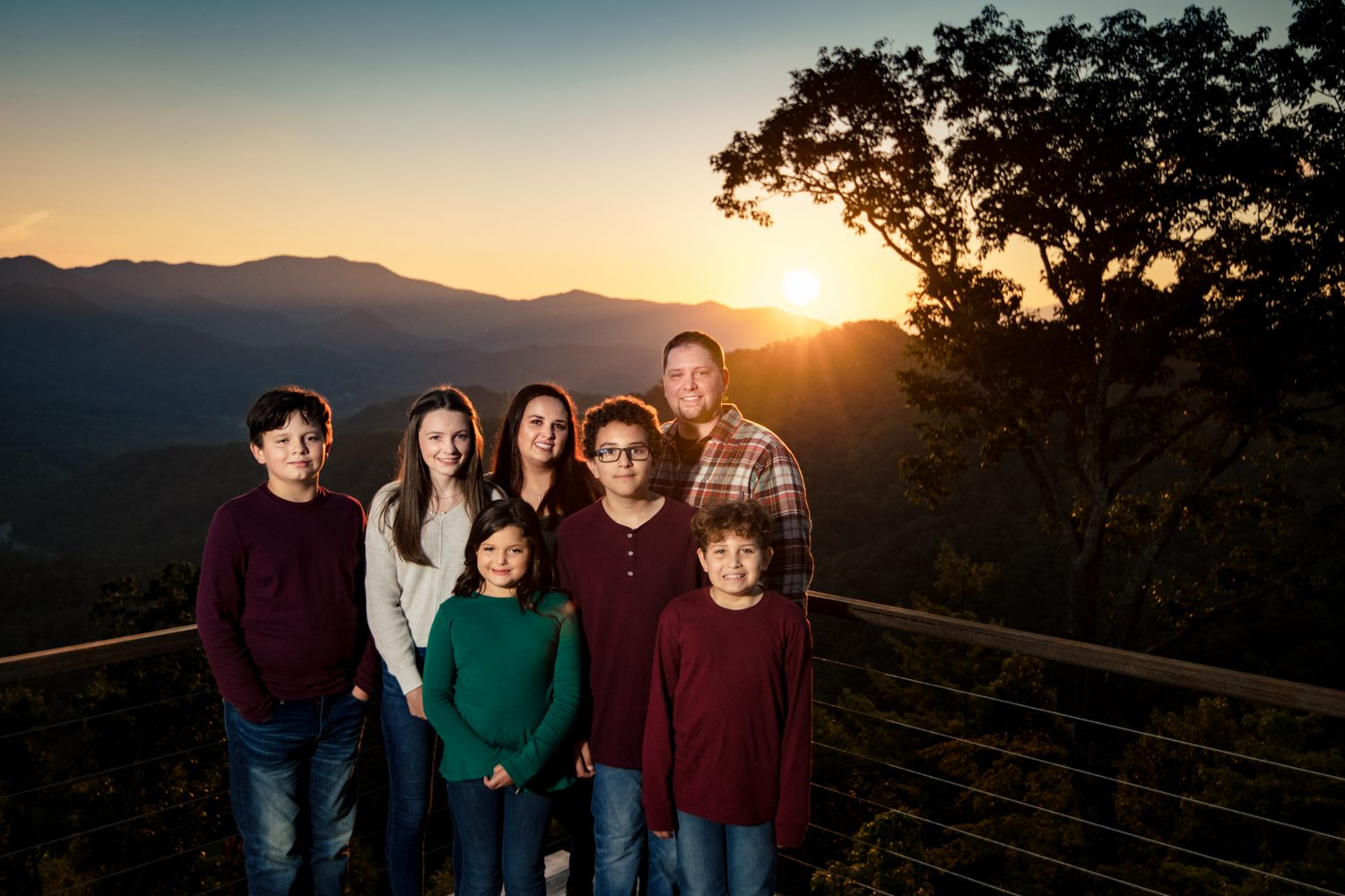 family at asheville Parker Mill family photo session