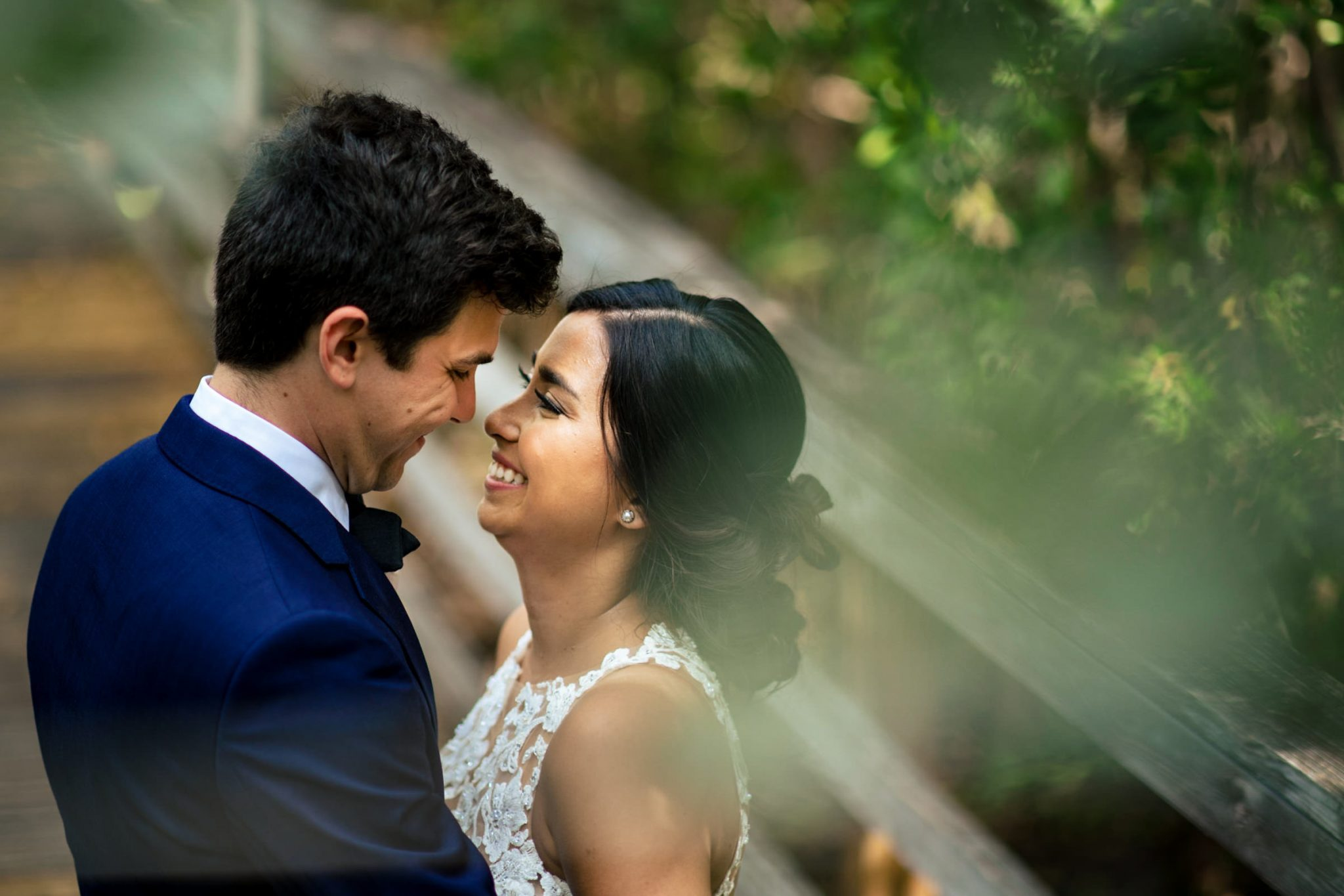 key west wedding couple at the nature preserve