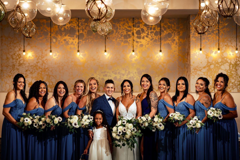 bridal party photos key west wedding